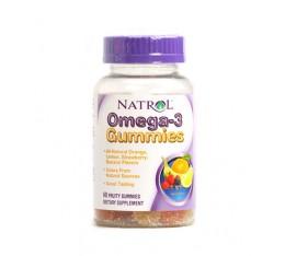 Natrol - Omega-3 Gummies / 60 Gummies Хранителни добавки, Мастни киселини, Рибено масло