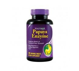 Natrol - Papaya Enzyme / 100 Chew Tabs. Хранителни добавки, На билкова основа