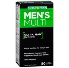 Nature's Bounty - Ultra Man / 50 tabs. Хранителни добавки, Витамини, минерали и др., Мултивитамини, Витамин B
