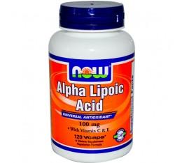 NOW - Alpha Lipoic Acid 100mg. / 120 Vcaps. Хранителни добавки, Антиоксиданти, Алфа-Липоева киселина