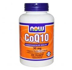 NOW - CoQ10 30mg. / 240 VCaps. Хранителни добавки, Антиоксиданти, Коензим Q10