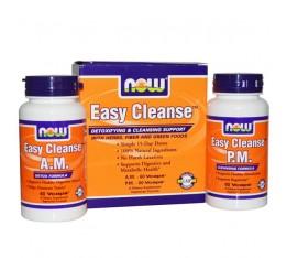 NOW - Easy Cleanse Kit AM-PM / 2 x 60 caps. Хранителни добавки, Здраве и тонус