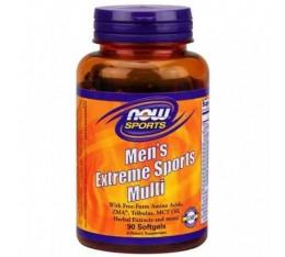 NOW - Men's Extreme Sports Multi / 90 softgels. Хранителни добавки, Витамини, минерали и др., Мултивитамини, Формули за мъже