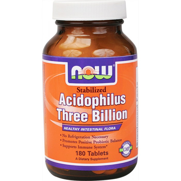 NOW - Stabilized Acidophilus Three Billion / 90 Tablets