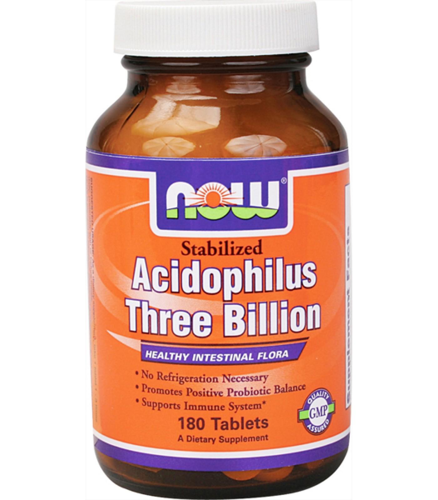 NOW - Stabilized Acidophilus Three Billion / 90 Tablets