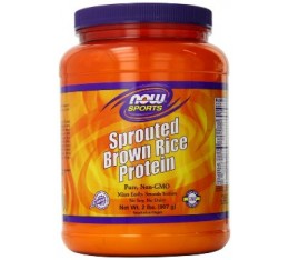 NOW - Sprouted Brown Rice Protein - 2 lbs. Хранителни добавки, Здраве и тонус, Протеини