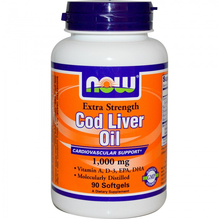 NOW - Cod Liver Oil 1000mg - 90 softgels