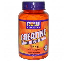 NOW - Creatine Monohydrate 750mg - 120 caps. Хранителни добавки, Креатинови продукти, Креатин Монохидрат