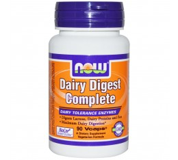 NOW - Dairy Digest Complete - 90 Vcaps® Хранителни добавки, Здраве и тонус
