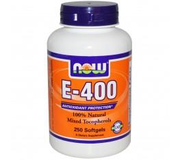 NOW - Vitamin E-400 IU (Mixed Tocopherols) / 250 Softgels Хранителни добавки, Витамини, минерали и др., Витамин E