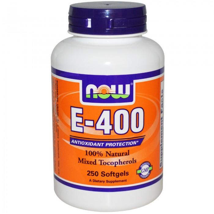NOW - Vitamin E-400 IU (Mixed Tocopherols) / 250 Softgels