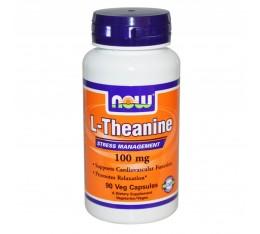 NOW - L-Theanine 100 mg - 90 caps.  Хранителни добавки, Здраве и тонус