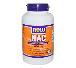 NOW - N-Acetyl Cysteine 600 mg - 250 caps.  Хранителни добавки, Здраве и тонус