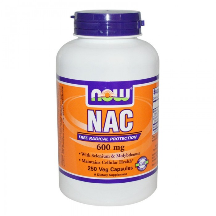 NOW - N-Acetyl Cysteine 600 mg - 250 caps.