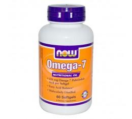 NOW - Omega - 7 - 224 mg - 60 softg. Хранителни добавки, Мастни киселини, Рибено масло