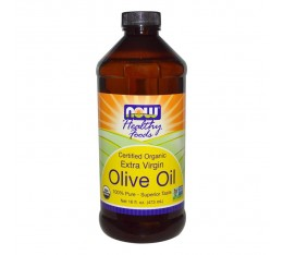 NOW - Olive Oil - Organic Extra Virgin - 473 ml.  Хранителни добавки, Здраве и тонус
