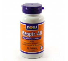 NOW - Respir-ALL Allergy - 60 tabs. Хранителни добавки, Здраве и тонус