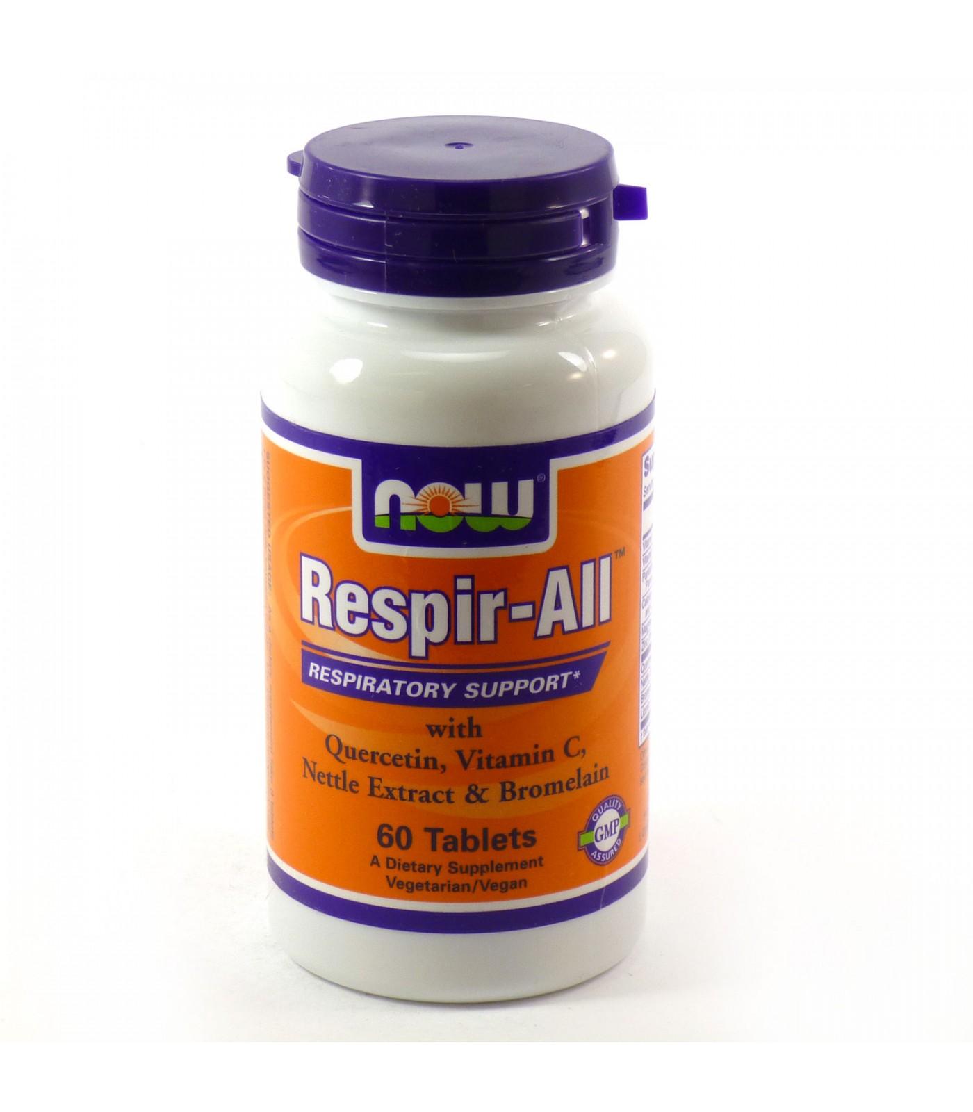 NOW - Respir-ALL Allergy - 60 tabs.
