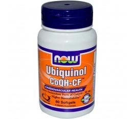 NOW - Ubiquinol CoQH-CF™ - 60 Softgels Хранителни добавки, Антиоксиданти, Коензим Q10