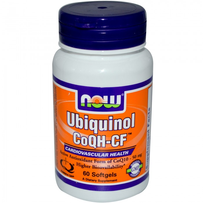 NOW - Ubiquinol CoQH-CF™ - 60 Softgels