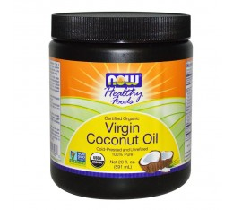 NOW - Virgin Coconut Oil (Organic) - 570 g.  Хранителни добавки, Здраве и тонус