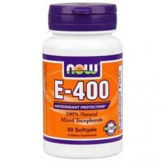 NOW - Vitamin E-400 IU (Mixed Tocopherols) / 50 Softgels Хранителни добавки, Витамини, минерали и др., Витамин E