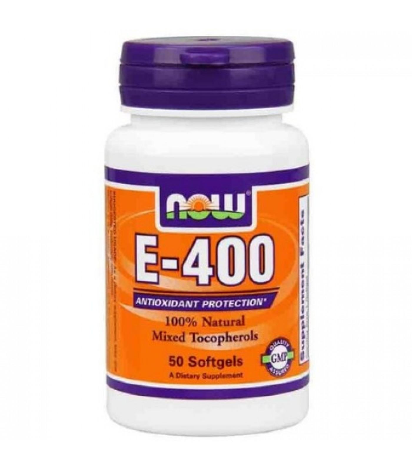 NOW - Vitamin E-400 IU (Mixed Tocopherols) / 50 Softgels