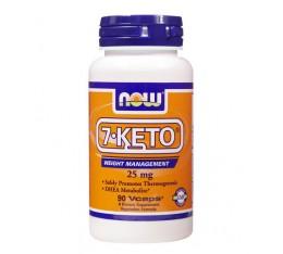 NOW - 7-Keto 25mg. / 90 VCaps. Хранителни добавки, Отслабване