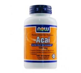 NOW - Acai 500mg. / 100 VCaps. Хранителни добавки, Антиоксиданти