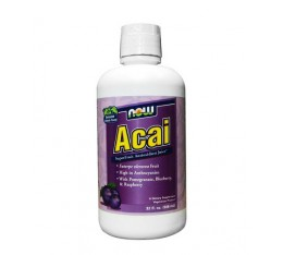 NOW - Acai Juice / 946 ml. Хранителни добавки, Антиоксиданти, Акай