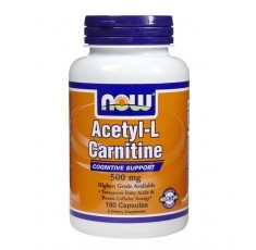 NOW - Acetyl L-Carnitine 500mg. / 100 VCaps.