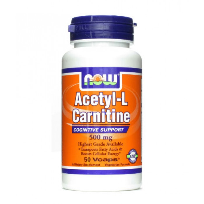 NOW - Acetyl L-Carnitine 500mg. / 50 VCaps.