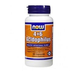 NOW - Acidophilus 4X6 / 60 caps. Хранителни добавки, Здраве и тонус, Пробиотици