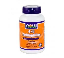 NOW - Acidophilus 4X6 / 85 gr. Хранителни добавки, Здраве и тонус, Пробиотици