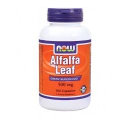 NOW - Alfalfa Leaf 500mg. / 100 Caps Хранителни добавки, Здраве и тонус, Зелени храни