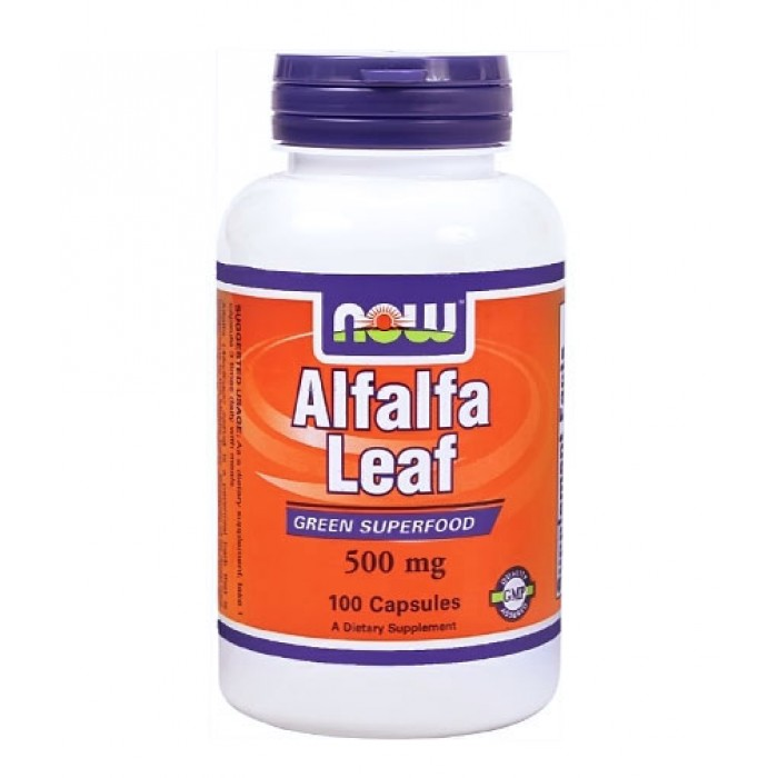 NOW - Alfalfa Leaf 500mg. / 100 Caps