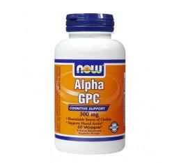 NOW - Alpha GPC 300mg. / 60 caps. Хранителни добавки, Здраве и тонус, В подкрепа на мисловната дейност, В подкрепа на съня