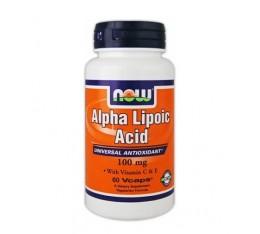 NOW - Alpha Lipoic Acid 100 mg. / 60 Vcaps. Хранителни добавки, Антиоксиданти, Алфа-Липоева киселина