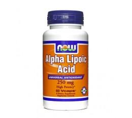 NOW - Alpha Lipoic Acid 250mg / 60 caps. Хранителни добавки, Антиоксиданти, Алфа-Липоева киселина