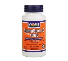 NOW - AlphaSorb-C™ 1000 mg. / 60 Tabs. Хранителни добавки, Витамини, минерали и др., Витамин C