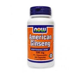 NOW - American Ginseng (5% Ginsenosides) 500mg. / 100 Caps. Хранителни добавки, Здраве и тонус