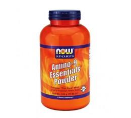 NOW - Amino-9 Essentials™ Powder / 330 gr. Хранителни добавки, Аминокиселини, Комплексни аминокиселини