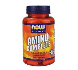 NOW - Amino Complete™ / 120 caps. Хранителни добавки, Аминокиселини, Комплексни аминокиселини