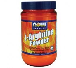 NOW - Arginine Powder / 454 gr. Хранителни добавки, Аминокиселини, Аргинин