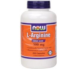 NOW - Arginine 500mg. / 250 caps. Хранителни добавки, Аминокиселини, Аргинин