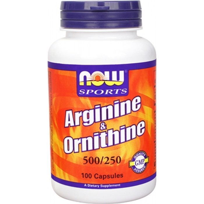 NOW - Arginine 500mg & Ornithine 250mg / 100 caps.