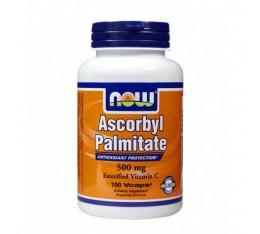 NOW - Ascorbyl Palmitate 500mg. / 100 Vcaps. Хранителни добавки, Витамини, минерали и др., Витамин C