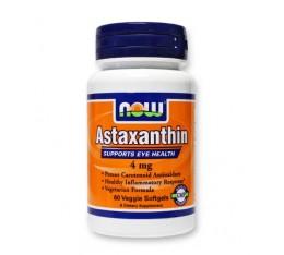 NOW - Astaxanthin 4mg. / 60 Veggie softgels Хранителни добавки, Антиоксиданти