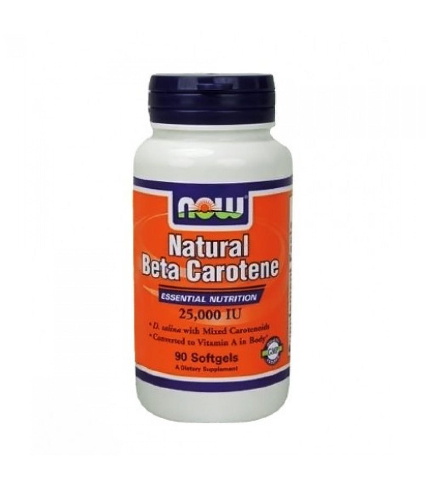 NOW - Beta Carotene Natural 25.000 IU / 90 softgels