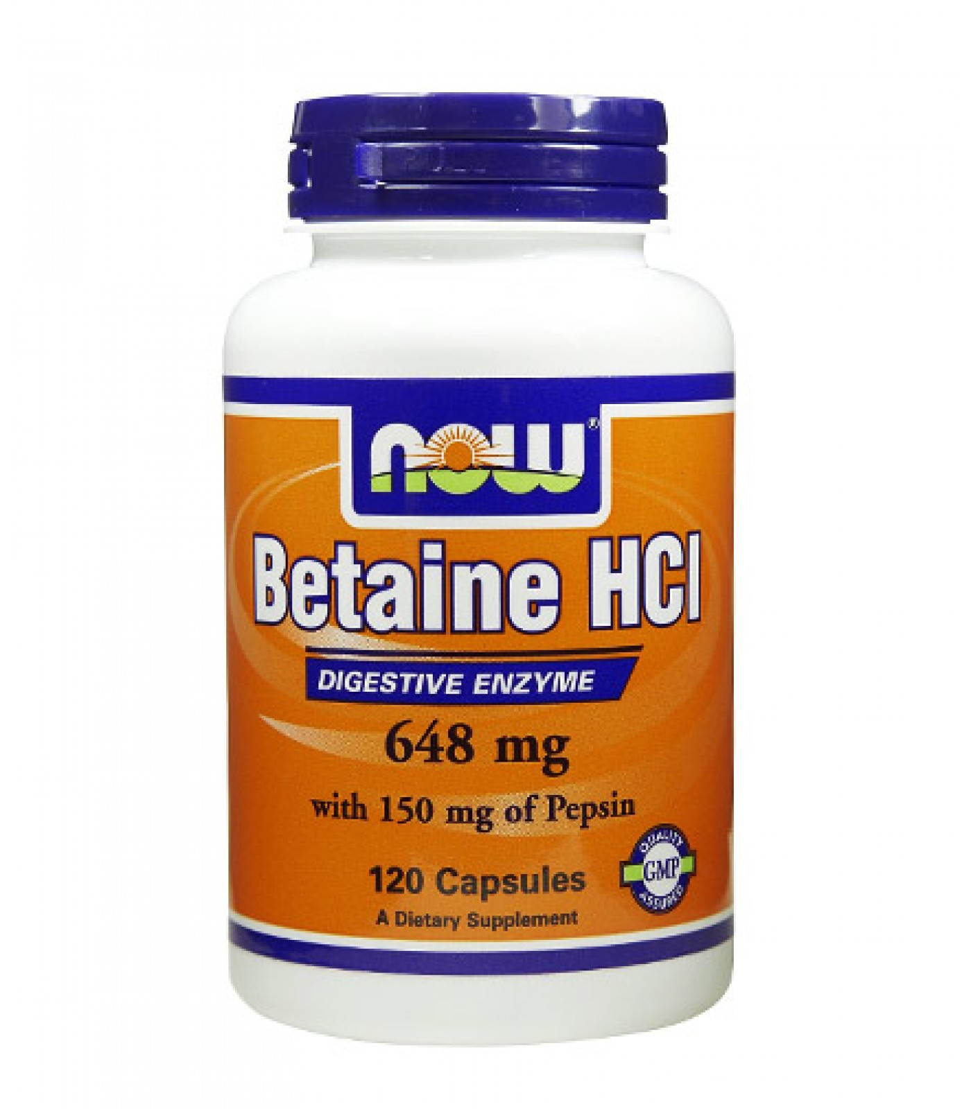 NOW - Betaine HCL 648mg. / 120 caps.